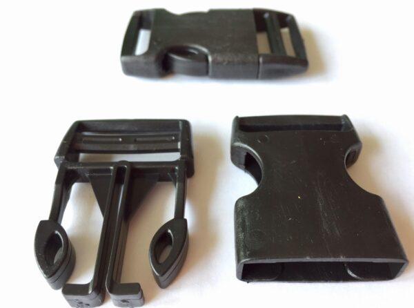 Táskacsat műanyag 30 mm kétoldalas