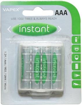 VAPEX AAA mini ceruza akkumulátor 850mAh 4db/csomag