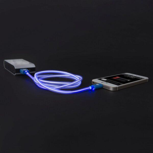 iPhone 5, 5S, 5C, 6, 6plus / iPod / iPad USB világító adat- és töltőkábel