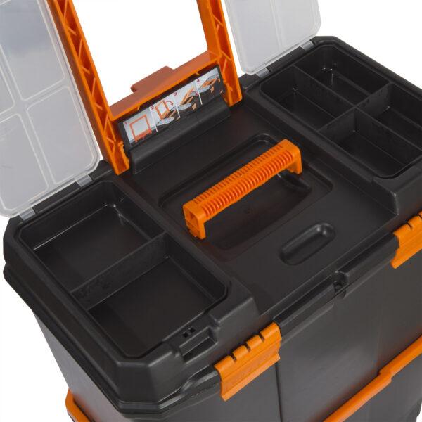 """Húzható, többrészes műanyag szerszámláda 18"""" - 460 x 260 x 625 mm"""