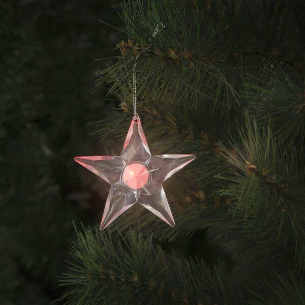 LED akril csillag elemes