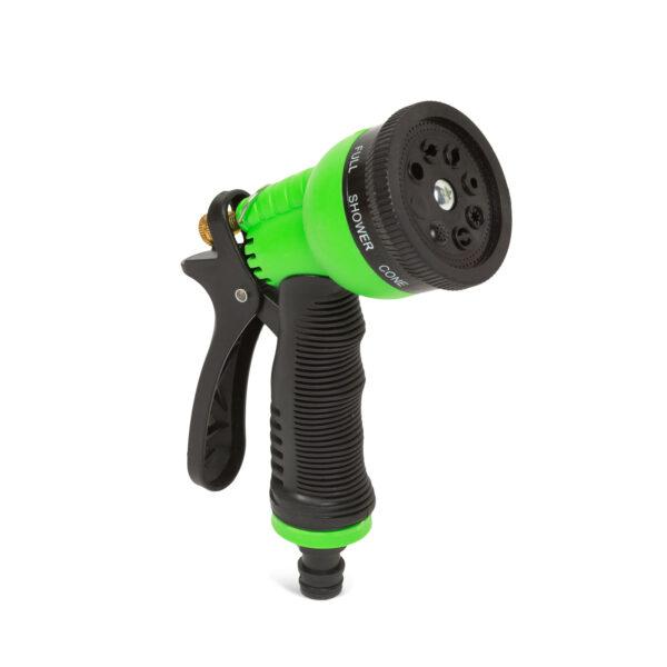 8 funkciós locsoló pisztoly - zöld