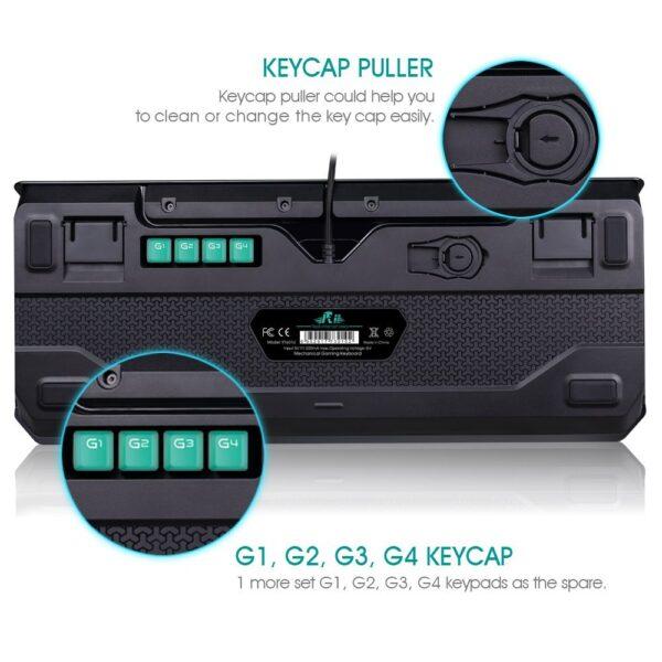 Rii K61C Mechanikus gamer billentyűzet