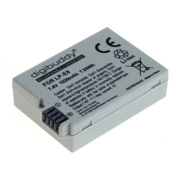 Canon LP-E8 1020mAh utángyártott akkumulátor