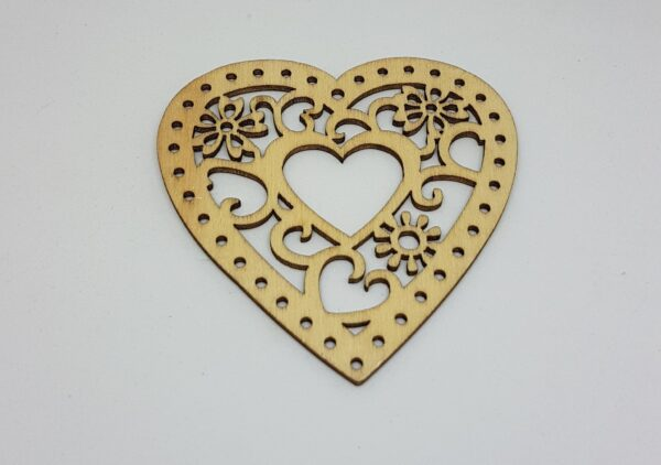 Fa dekor szív vintage