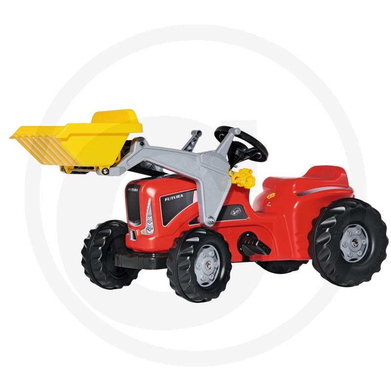 Rolly Toys Homlokrakodós pedálos piros traktor