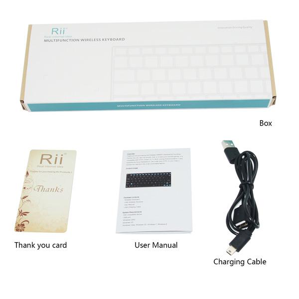 Rii i9 Vezetéknélküli mini billentyűzet