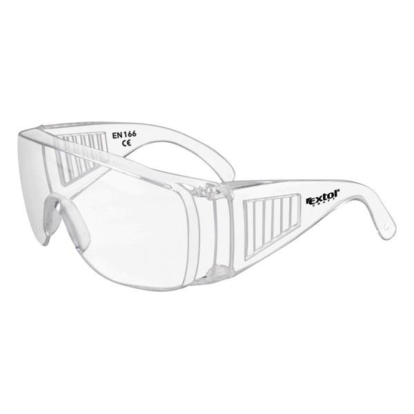 védőszemüveg, víztiszta, polikarbonát, CE, optikai osztály: 1, ütődés elleni védelmi osztály: S