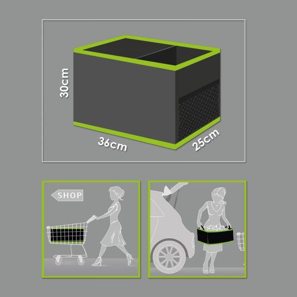 Autós rendszerező csomagtartóba 2 tárolórekeszes