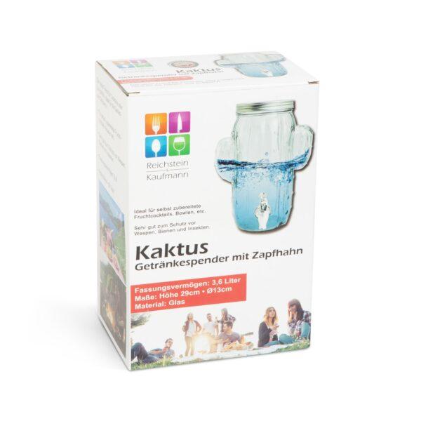 """Italadagoló csappal, üveg - """"Kaktusz"""" - 3,6 l"""