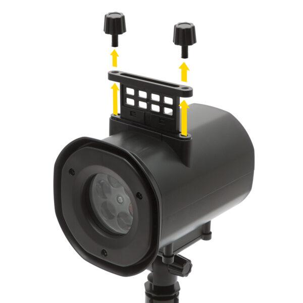 LED-es partyfény 4 cserélhető mintával