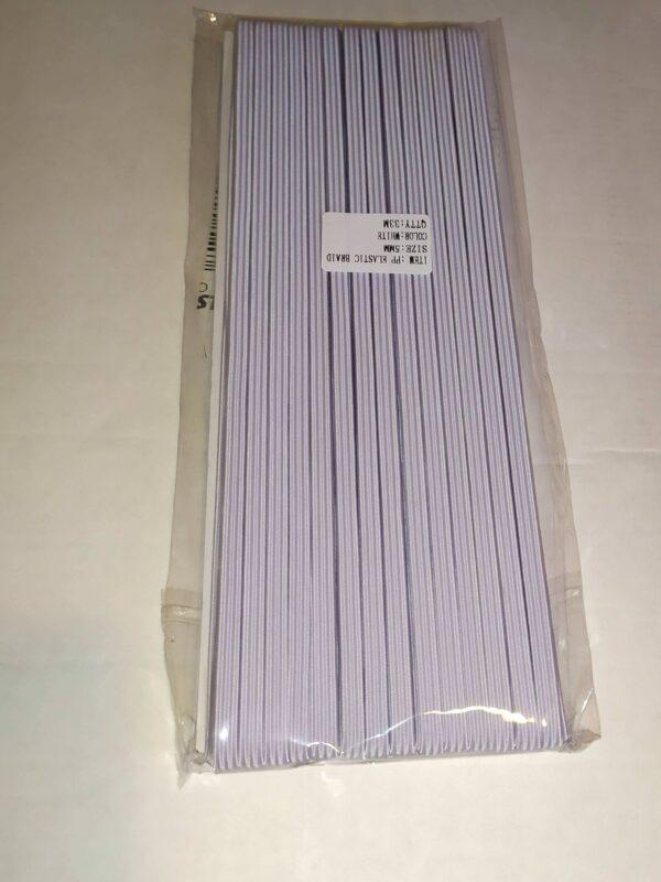 Bordázott gumi 5 mm fehér 33 méter/csomag