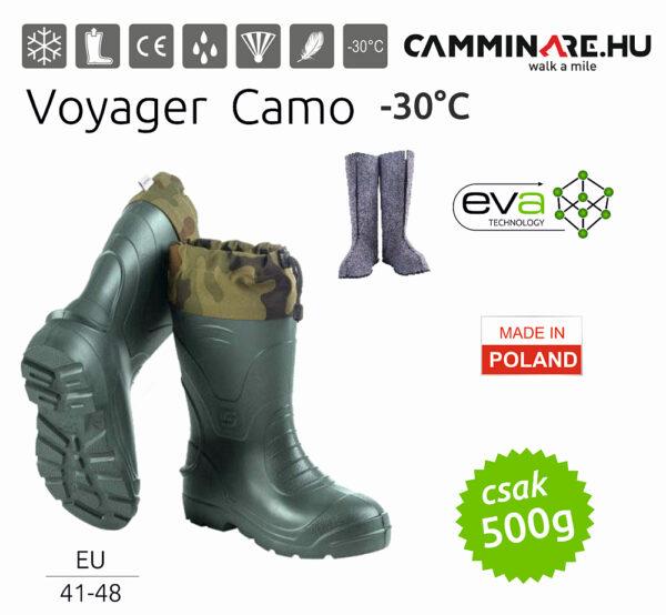 Camminare – Voyager Camo EVA csizma, ZÖLD (-30°C)