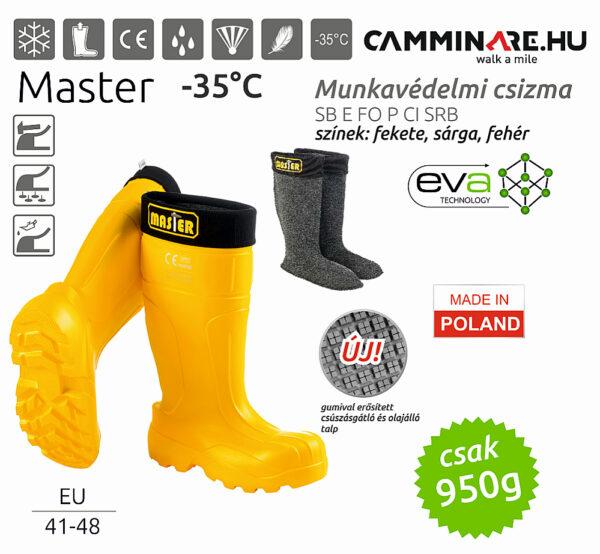Camminare – MASTER EVA munkavédelmi csizma SÁRGA (-35°C)