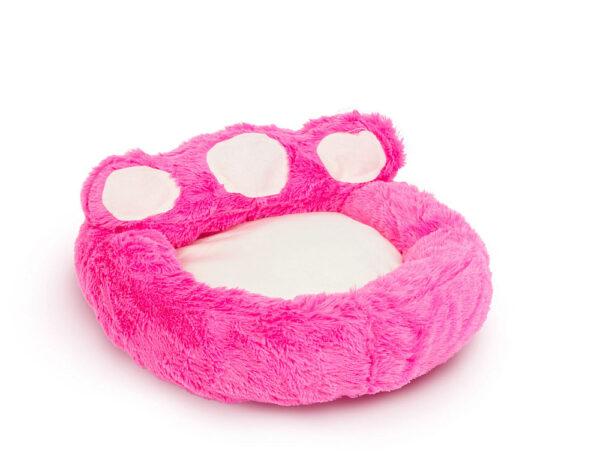Mancs alakú állatfekhely rózsaszín - törtfehér S