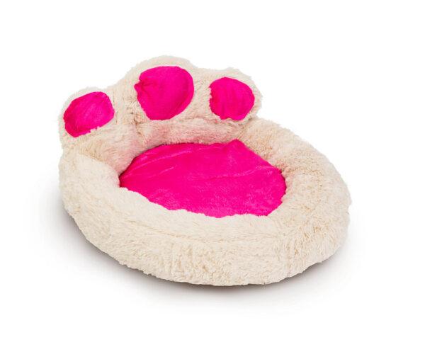 Mancs alakú állatfekhely törtfehér - rózsaszín S