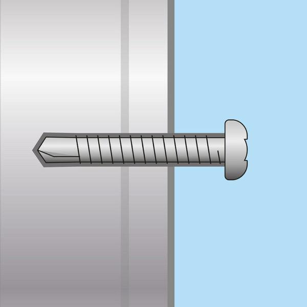 Önfúró laposfejű lemezcsavar - 4,2 x 19 mm - 60 db / csomag