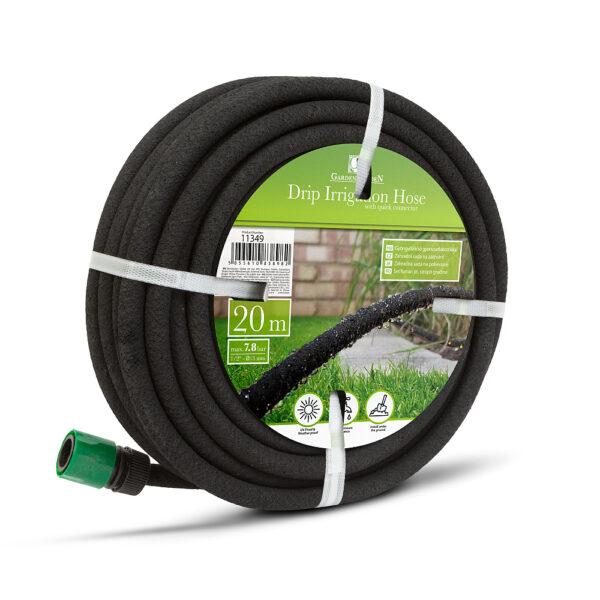 Gyöngyözőcső gyorscsatlakozókkal, 20 m - fekete