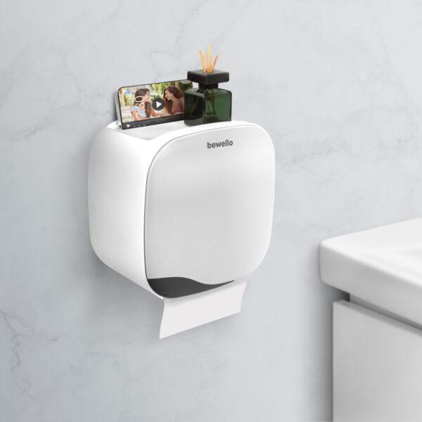 WC-papír tartó szekrény - fehér