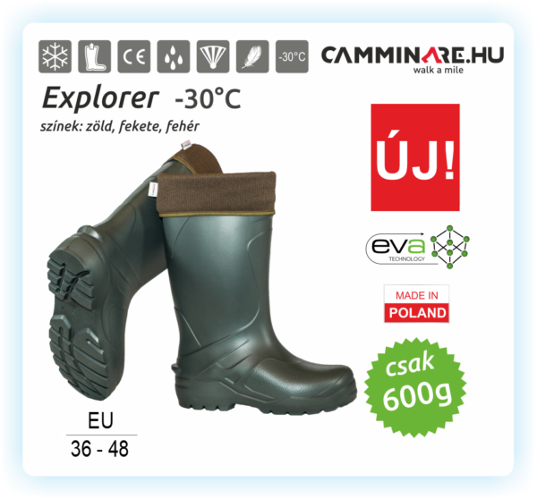 Explorer EVA csizma ZÖLD