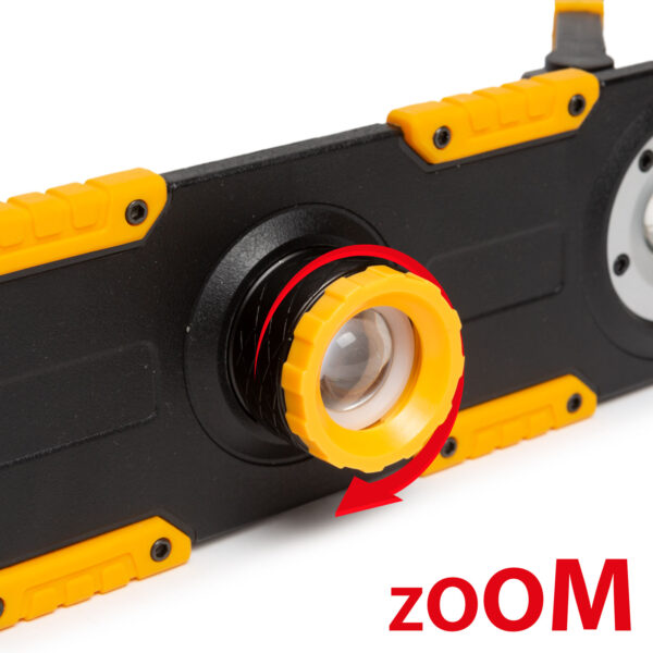 LED reflektor - akkumulátoros, dimmerelhető, fókuszálható - 1500 lumen