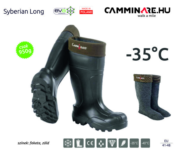 Syberian Long EVA csizma FEKETE (-35°C)